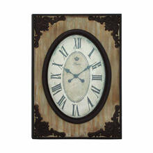 "WOOD WALL CLOCK 22""W, 30""H"