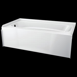 White ProCrylic 60 in. x 32 in. Left Hand Tub Product Image