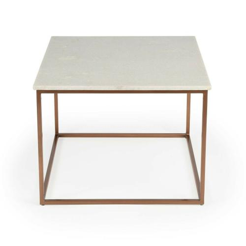 Butler Specialty Company - Serve drinks on this quaint cocktail table. Perfect for the living room or den, this table's white marble tabletop rests on four bronze-colored Iron legs. This modern piece's fairly simple design gives it a very sleek minimalist look.