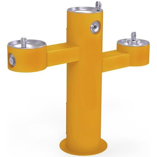 Elkay - Elkay Outdoor Fountain Tri-Level Pedestal Non-Filtered, Non-Refrigerated Yellow
