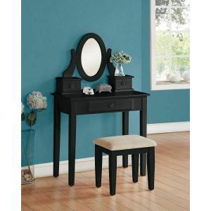 Acme Furniture Inc - ACME Jayle Vanity Set - 90145 - Black