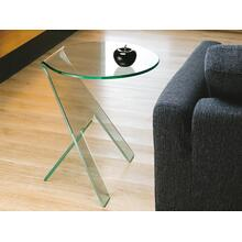 The Paso End Table In Clear Bent Glass