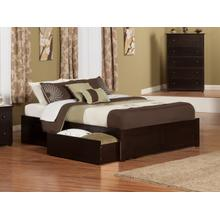 Concord King Flat Panel Foot Board with 2 Urban Bed Drawers Espresso
