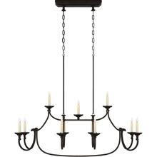 View Product - Chapman & Myers Flemish 1 Light 50 inch Aged Iron Linear Pendant Ceiling Light in (None), Large