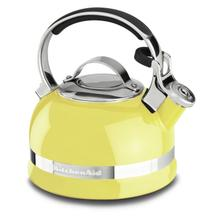 2.0-Quart Stove Top Kettle with Full Stainless Steel Handle Citrus Sunrise