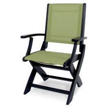 View Product - Coastal Folding Chair in Black / Kiwi Sling