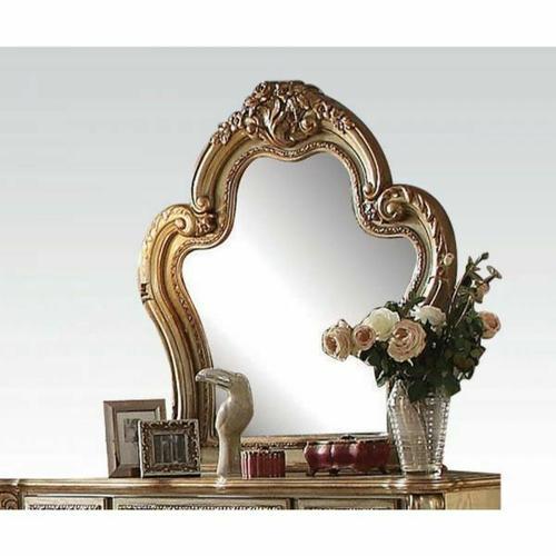 ACME Dresden Mirror - 23164 - Gold Patina & Bone