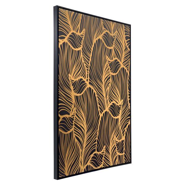 See Details - Flora Canvas Black & Gold