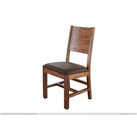 Chair w/Solid Wood - Faux Leather Seat