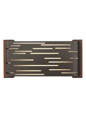 Antique Bronze with Walnut Wood Trim Revel Wall Product Image