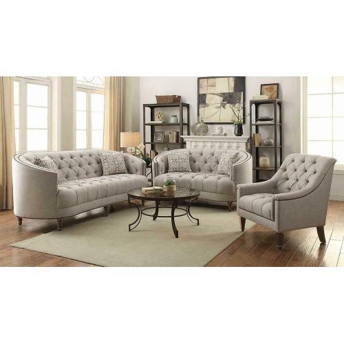 Avonlea Beige Three-piece Living Room Set