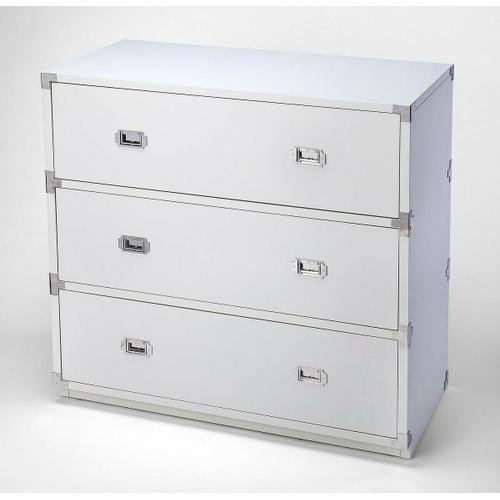 A versatile, functional piece suited for any stage of life, this modern dresser looks right at home in the nursery, child's, teen's or adult's room. Crafted from rubberwood and manufactured wood, it demonstrates a clean-lined silhouette that fits right in with contemporary styles of decor. For storage, three drawers slide open on ball bearing glides to reveal ample space for linens, clothes, toys, and more. At 41 tall and 41 wide, this piece neatly fits into master suites and den spaces alike.