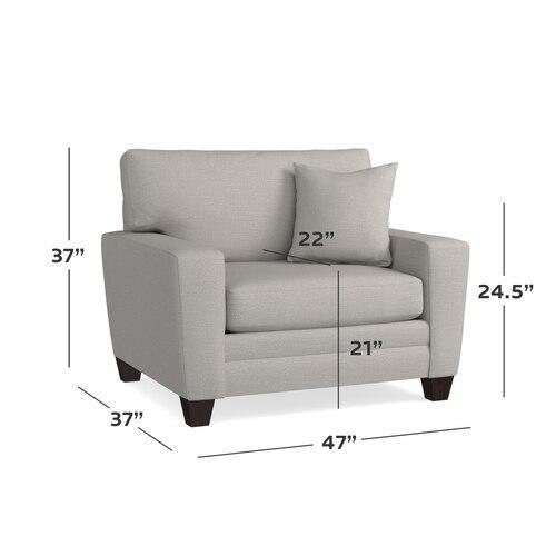 CU.2 Chair and a Half, Arm Style Wedge