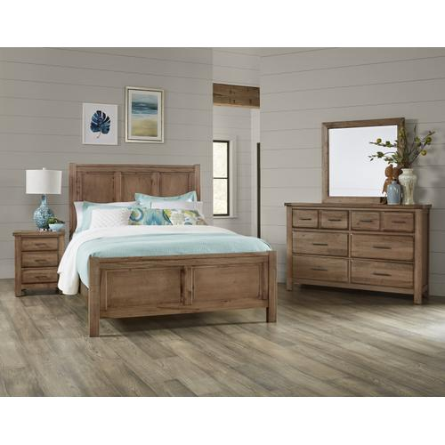 Centennial Solids - Panel Bed with Panel Footboard