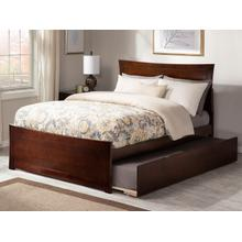 Metro Full Bed with Matching Foot Board with Urban Trundle Bed in Walnut