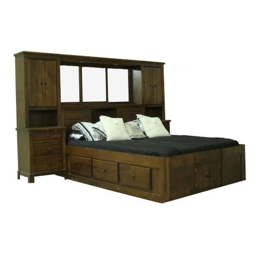 Forest Designs Shaker Queen Pier Wall & Platform Bed - King