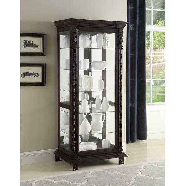 See Details - Traditional Brown Curio Cabinet