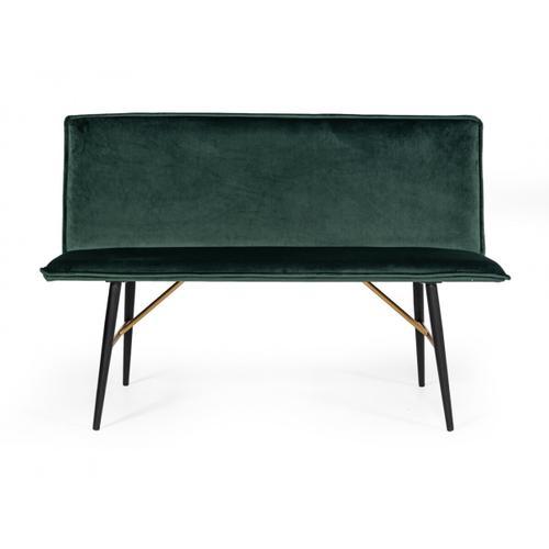 VIG Furniture - Modrest Billy Modern Green Velvet Dining Bench