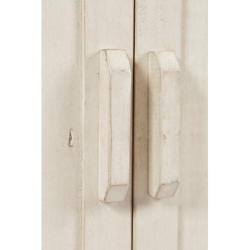 "Madison County 60"" Barn Door Server - Vintage White"