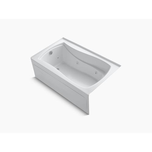 "White 60"" X 36"" Alcove Whirlpool With Integral Apron, Integral Flange, Left-hand Drain and Heater"