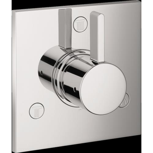 Chrome Diverter Trim Square Trio/Quattro