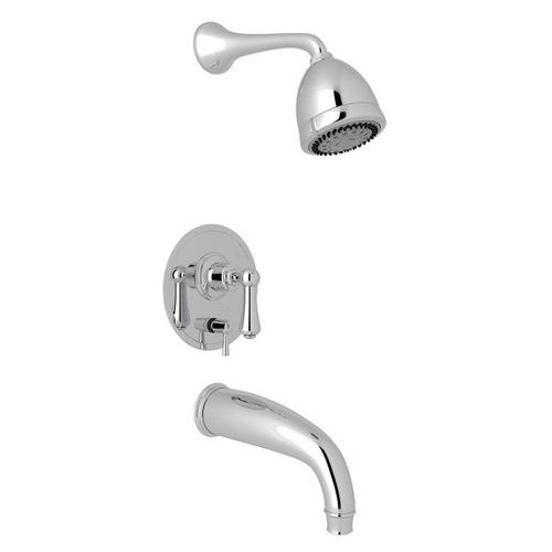 Polished Chrome GEORGIAN ERA PRESSURE BALANCE SHOWER PACKAGE with Georgian Era Solid Metal Lever
