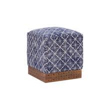 Scout Square Ottoman Blue