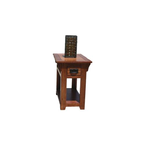 """O-M251 Mission Oak 1-Drawer 15"""" Chair Side Table"""