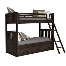 Kids Bunk Bed End in Espresso Brown