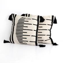Ellie Outdoor Pillow-blk, Cr-set of 2-20""