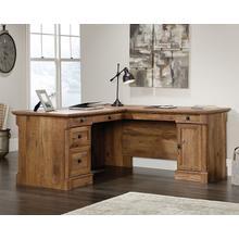 View Product - L-Shaped Desk in Vintage Oak finish