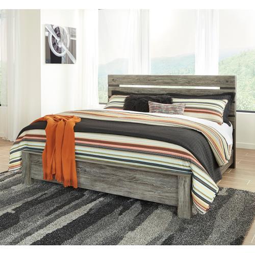 Cazenfeld - Black/Gray 3 Piece Bed (King)
