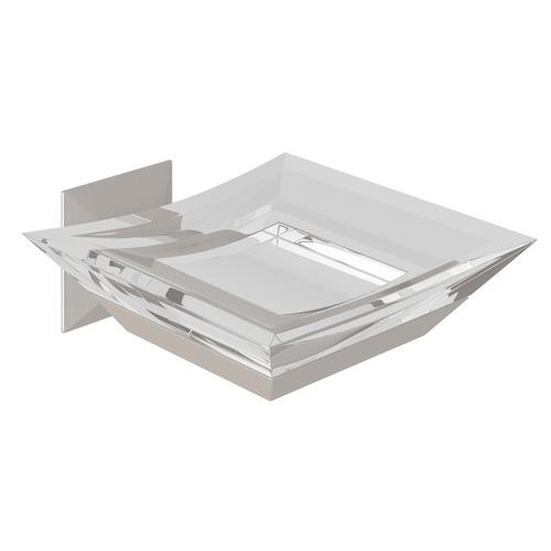 Satin Nickel Vincent Wall Mount Acrylic Soap Dish