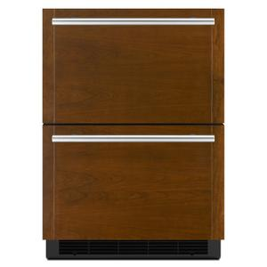 "Jenn-AirPanel-Ready 24"" Double-Refrigerator Drawers Panel Ready"