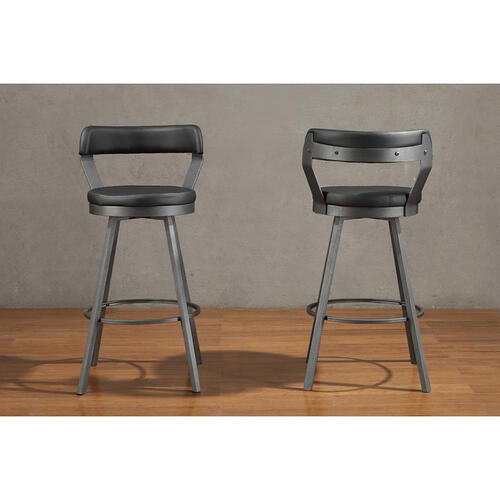 Gallery - Swivel Pub Height Chair, Black