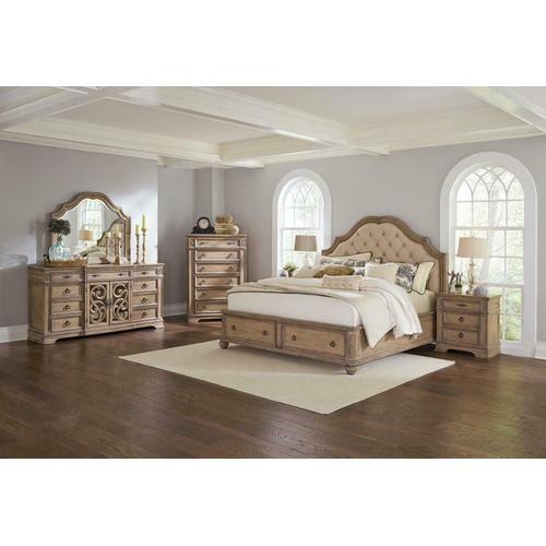 Coaster - Ilana Traditional Antique Linen and Cream Queen Storage Bed Five-piece Set