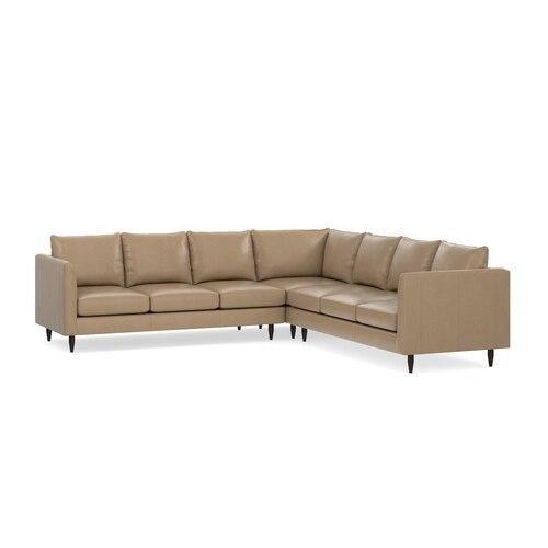 Ariana Leather L-Shaped Sectional