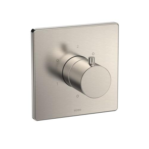 Three-way Diverter Trim with Off - Square - Brushed Nickel