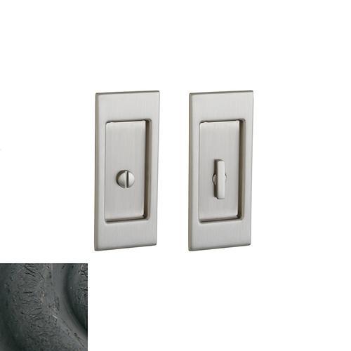 Baldwin - Distressed Oil-Rubbed Bronze PD006 Small Santa Monica Pocket Door