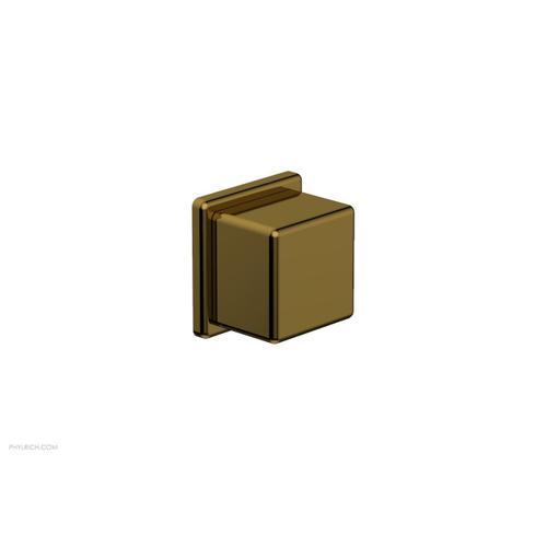 MIX Volume Control/Diverter Trim - Cube Handle 290-38 - French Brass