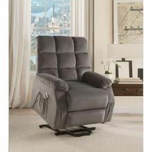 ACME Ipompea Recliner w/Power Lift & Massage - 59263 - Gray Velvet