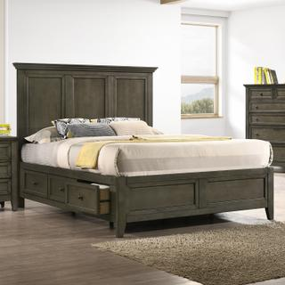 San Mateo Storage Bed  Gray
