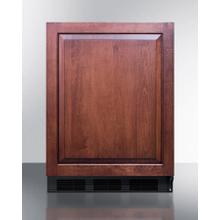 Product Image - Commercially Listed Built-in Undercounter All-refrigerator for General Purpose Use, Auto Defrost W/integrated Door Frame for Overlay Panels and Black Cabinet