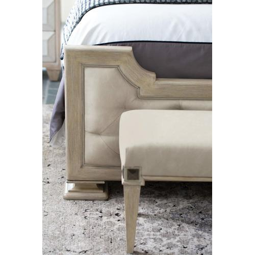 Queen-Sized Santa Barbara Upholstered Tufted Panel Bed in Sandstone (385)