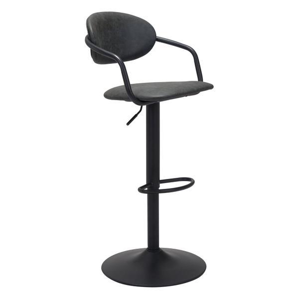 See Details - Kirby Bar Chair Vintage Black
