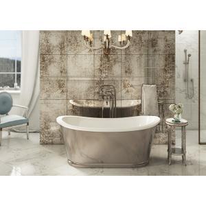 Balthazar Bathtub with Polished Nickel Exterior