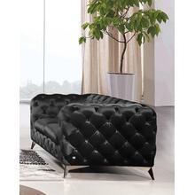 See Details - Divani Casa Delilah - Modern Black Fabric Loveseat