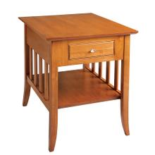 See Details - End Table with Drawer & Shelf
