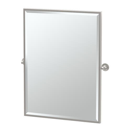 Max Framed Rectangle Mirror in Satin Nickel