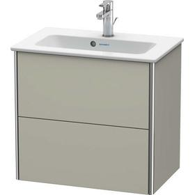 Vanity Unit Wall-mounted Compact, Taupe Satin Matte (lacquer)